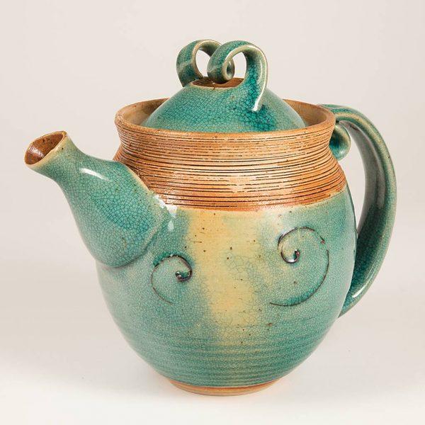 Teekanne aus Keramik | Elke Gerber-Eckert | Kunsthandwerk im Artenreich-Shop