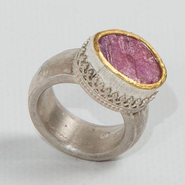Edelsteinring | Ring | Schmuckwerk Birgitt Maringer | Kunsthandwerk im Artenreich-Shop