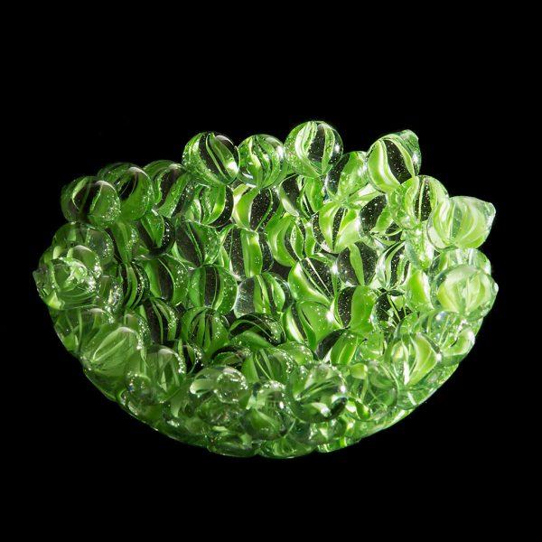 Hedi Schon | Schale - Kunstobjekte aus Murmeln | Materialien: Glas | ∅: ca. 12 cm